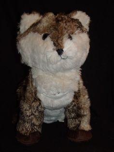 "Pottery Barn Teen Brown White Fox Coyote Plush MP3 Music Speakers 13"" #PotteryBarnTeen"
