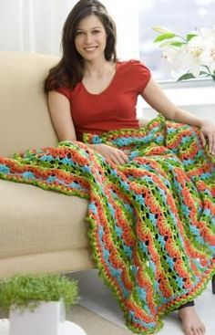 I'm dying to have the time to make an afghan - Flamenco Fling Afghan Crochet Pattern