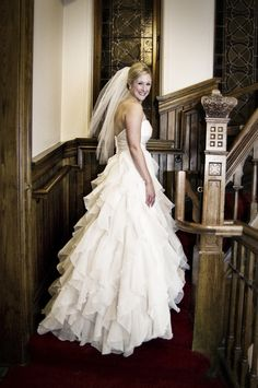 Tiered bridal gown (Gray Photography by Jeff & Jewels)