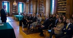 "Princess Sofia Hellqvist attended a briefing on ""Global Child Forum"" held at the Bernadotte Library of Stockholm Royal Palace"