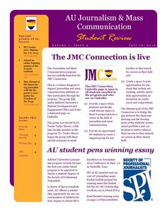 Jmc newsletter third quarter 2014 This is the third quarter 2014 newsletter for journalism students at Ashford University. It has a redesign from prior issues. Ashford University, Newsletter Layout, Mass Communication, Journalism, Higher Education, Layouts, Third, Students