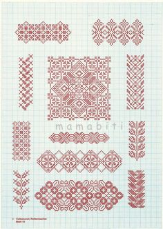 Cross stitch  *♥* Point de croix Monochrome