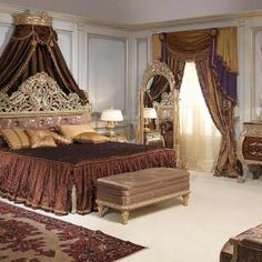 Classic bedroom Emperador Gold, Luigi XV style, walnut and grey patinated gold finish Gold Bedroom, Bedroom Sets, Dream Bedroom, Bedding Sets, Classic Furniture, Luxury Furniture, Bedroom Furniture, Victorian Bedroom, Wardrobe Design Bedroom