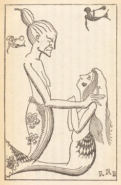 Illustrations from a 1928 edition of Andersen's fairy tales, from Takeo Takei