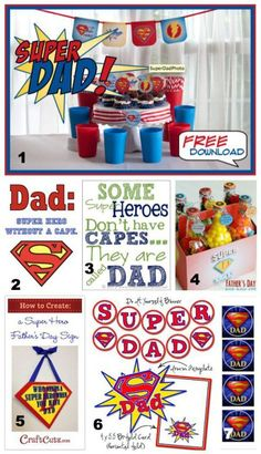 Father's Day Super Hero Free Printables Ideas