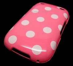 $6.95 FOR BB CURVE 9310 9320 PINK WHITE POLKA DOT HARD COVER CASE BOOST MOBILE VERIZON