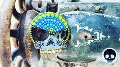 Pieza de MDF pintada a mano para llavero de la línea Calacas Men  #CalacasCaracas