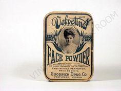Velvetina Face Powder circa 1910 I think daisy would wear something like this.