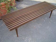 mid century slatted coffee table just like my parent's