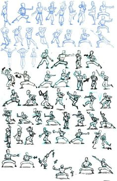 artistic kung fu poses