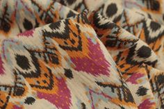 He Said Okay Fabric: Japanese Cotton AU$29 a metre ($7.25 per ¼ metre) Japanese Printed 85% Cotton 15% Linen. Width:112cm The colourways in this print are yellow, purple and chocolate. The print also comes in She Said Yes