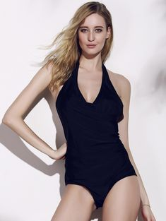 868b237df7 Sexy Halter Backless Solid Color One-Piece Women s Swimwear - BLACK XL  Backless One Piece