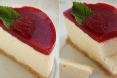 Творожное пирожное с малиновым желе