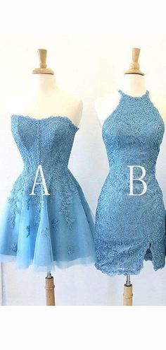 Blue Homecoming Dresses, Long Prom Gowns, Cheap Prom Dresses, Dresses Uk, Blue Dresses, Dresses With Sleeves, Grad Dresses, Short Sleeves, Blue Party Dress