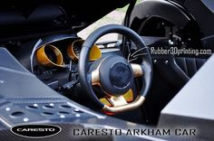 3D printed steering wheel center cap in the CARESTO ARKHAM CAR now active in the Gumball 3000 race :-) #caresto #carestocars #arkham #batmobile #batman #gumball3000 #3dprint #3dprinting #3dprinted #3Dprinterfilament #elasticfilament #flexiblefilament #conductivefilament #TPU #TPE #ETPU #Thermoplasticpolyurethane #palmiga #palmiga_innovation #rubber3dprinting by rubber3dprinting