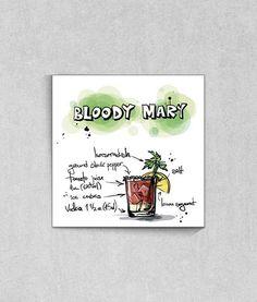 Poster Gourmet Coleção Drinks 'Bloody Mary' da TopQuadros.com.br