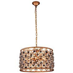 """Madison 20"""" Crystal Pendant Chandelier with 6 Lights (1204D20)"""
