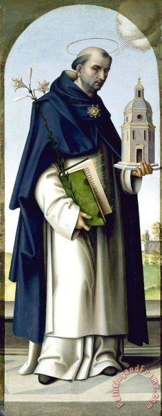 Giovanni Battista Bertucci Saint Thomas Aquinas painting - Saint Thomas Aquinas print for sale