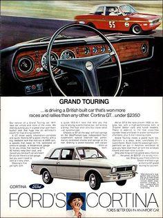 Vintage Car Models: A Collectors Dream - Popular Vintage Vintage Advertisements, Vintage Ads, Vintage Designs, Van Car, Ford Classic Cars, Classic Motors, Ford Escort, Car Advertising, Car Ford