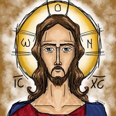 Enlace permanente de imagen incrustada Religious Icons, Religious Art, Bible Illustrations, Jesus Art, Catholic Art, Jesus Is Lord, King Of Kings, Gay Art, Colorful Drawings