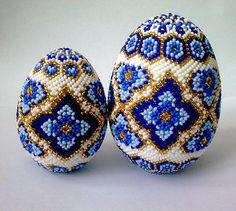assortment of beaded Easter eggs | Beads Magic