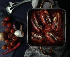 Špekáčky na černém pivu 2, Foto: All Eggplant, Food And Drink, Beef, Vegetables, Meat, Vegetable Recipes, Ox, Eggplants, Ground Beef