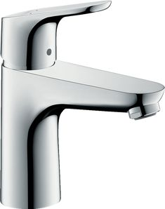 Hansgrohe 04371000 Single-Hole Faucet with GPM, Aerated Spray, Solid Brass, Ceramic Cartridge, ADA Compliant and EcoSmart Technology: Chrome