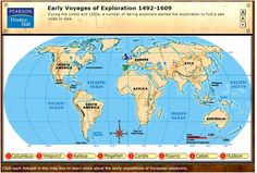 Early Voyages of Exploration.  Interactive map through Pearson/Prentice Hall
