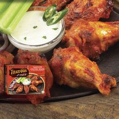 Tandoori Chicken Wings - #Spicy, roasted chicken #wings marinated in an authentic Tandoori sauce. #hotandspicy