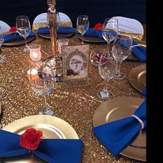 Quince Decorations, Quinceanera Decorations, Quinceanera Ideas, Table Decorations, Beauty And The Beast Wedding Theme, Beauty And Beast Birthday, Bueaty And The Beast, Bridal Shower Tables, Sweet 16 Parties