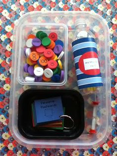Literacy & Math Ideas: Make Learning Center Bento Boxes! neat idea and easy storage