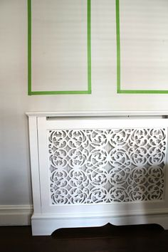 Marlow Design White Mdf Radiator Cover Cabinet With Cast