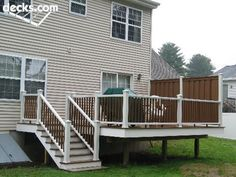 Trex Decking and Railing with Privacy Wall / Trex Fencing