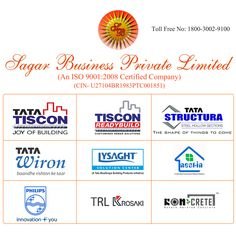 Sagar Business deals in these Products in differerent ways.. TATA Tiscon in Odisha TATA TISCON READYBUILD CUT & BEND TMT Business Development Partner (BDP) for TATA STRUCTURA Channel Partner for PHILIPS Tata Wire Division Division, Proposal, Channel, Things To Come, Wire, Business, Products, Business Illustration, Proposals
