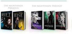 "The Nightshade Series by Andrea Cremer - Download a free World of Nightshade poster (Look under ""Explore More Nightshade)! Could be part of a display in the teen area of the library!"