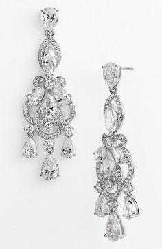 Nadri 'Legacy' Crystal Chandelier Earrings - Silver