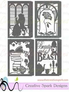 Beauty and the Beast Paper Lantern DIY Project SVG digital