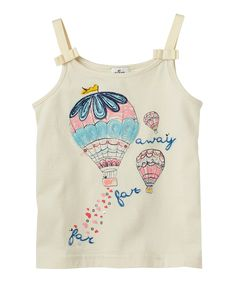Vanilla Hot Air Balloon Bow Tank by Ruum 3Y