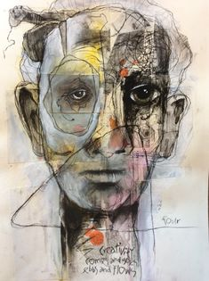 Creativity comes and goes, ebbs and flows/ 4 / four L'art Du Portrait, Abstract Portrait, Abstract Art, Abstract Faces, Portraits, Studios D'art, Art Visage, Ap Studio Art, Art Et Illustration