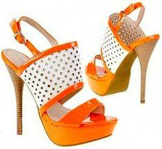 Orange Retro Style Sandal Shoes Orange Is The New, Shoes Sandals, Heels, Retro Fashion, Platform, Wedges, Retro Style, Women, Sandals