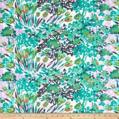 Amy Butler Violette Meadow Blooms Turqu from @fabricdotcom  Designed by Amy Butler for Westminster Fibers, this cotton print fabric is perfect for quilting, apparel and home decor accents. Colors include orange, lavender, white and shades of green and blue.
