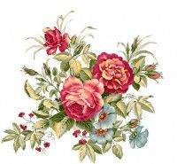 Beautifully hand painted flowers PSD material 03