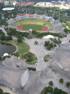 the Munich Summer Olympic Stadium of 1972 by Frei and Schlaich