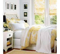 Yellow Toile Duvet Cover & Sham - Marigold | Pottery Barn