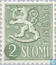 Finland - Heraldic lion-new type. Stamp Catalogue, Postage Stamps, Finland, Lion, Kids Rugs, Graphics, Type, Country, Leo