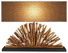 Eucalyptus Branch Console Lamp contemporary-table-lamps