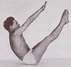 Joseph Pilates himself, performing the teaser .