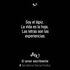 (76) El amor escribiente  #obra #vida #experiencia