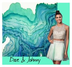 """Dave & Johnny: Aqua inspired homecoming"" by daveandjohnny212 on Polyvore featuring Dave and Johnny"