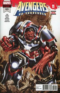 COMIC BOOK: Avengers # 685 (Vol VI). PUBLISHER: Marvel Comics. WRITER(S) Al Ewing, Mark Waid, Jim Zub. ARTIST: Paco Medina. COVER ARTIST: Mark Brooks. ORIGINAL RELEASE DATE: 3 / 21 / 2018. COVER PRICE: $3.99. RATING: Teen +.